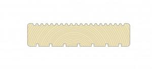 Rifliuoto paviršiaus medinės terasinės lentos idealiai tinka lauko terasoms.