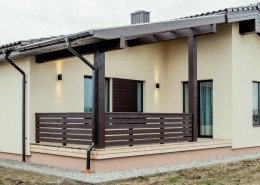 Frame house, outdoor panel. Medenis